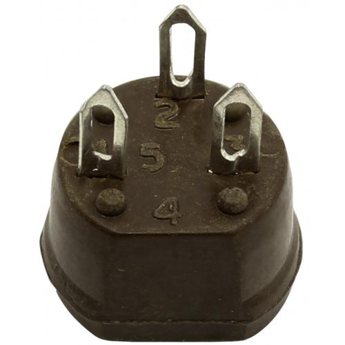 Transistor Socket - Cinch, 3 Pin, Phenolic, NOS image 3