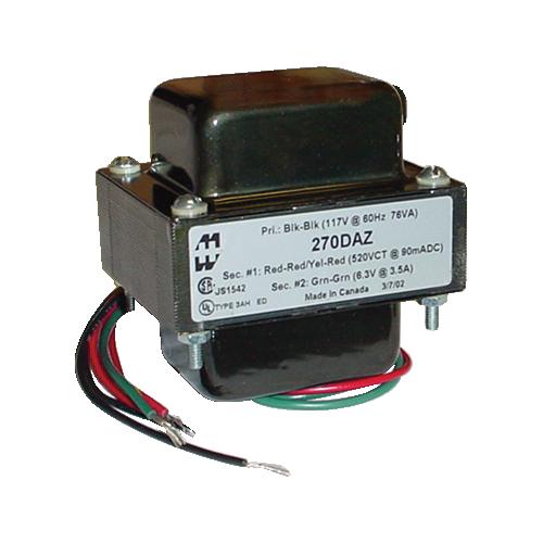 Transformer - Hammond, High Voltage Plate & Filament, Horizontal mount image 1