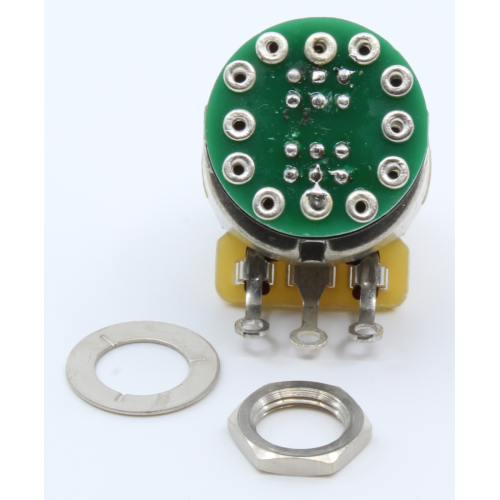 Potentiometer - Fender®, S-1, Knurled Shaft, 4PDT image 2