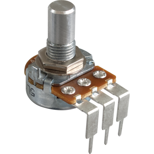 Potentiometer - Alpha, Linear, Solid Shaft, Long PC Lead, 16mm image 1