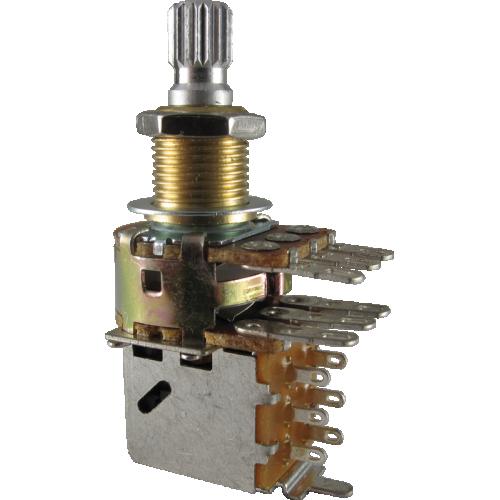 Potentiometer - Bourns, Audio, Knurled, Dual Mini, Push-Pull, 500K image 1