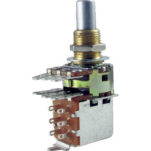 Potentiometer - Bourns, Audio, Solid Shaft, Dual Mini, Push-Pull image 1
