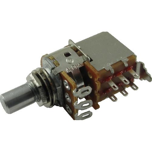 Potentiometer - Alpha, Audio, Solid Shaft, DPDT, 7mm Bushing image 1