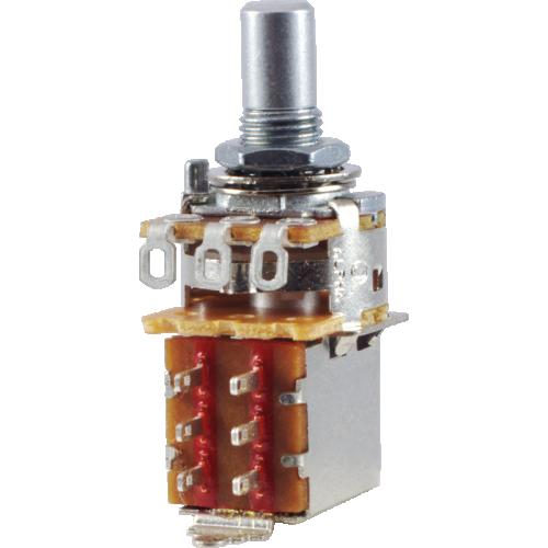 Potentiometer - Alpha, 250kΩ, Audio, Solid Shaft, DPDT, 7mm Bushing image 1