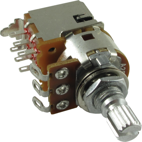 Potentiometer - Alpha, Audio, Knurled Shaft, DPDT, 7mm Bushing image 1