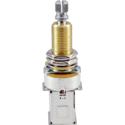 Potentiometer - 500kΩ, Linear, Knurled Long, DPDT, Push-Push image 3