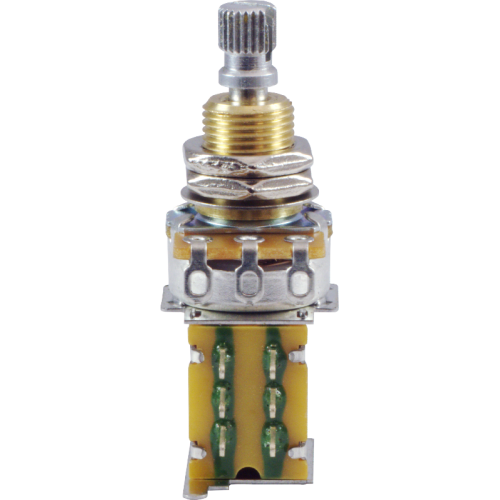 Potentiometer - 500kΩ, Linear, Knurled Shaft, DPDT, Push-Push image 2