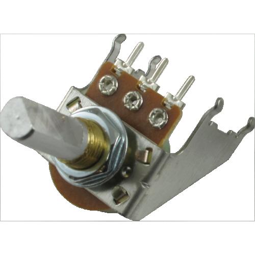 Potentiometer - Audio, D Shaft, 16mm, Snap-In, Bracket image 1