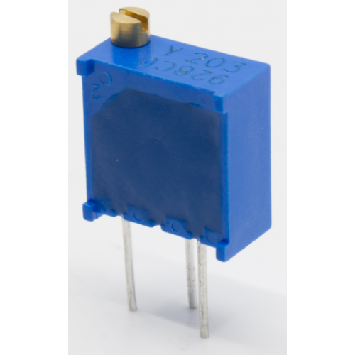 Trimmer - Bourns, 3296Y, Multiturn, Top Adjust, PCB Mount image 2