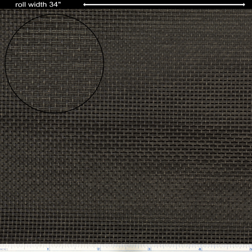 "Grill Cloth - Black, basket weave, 34"" Wide image 1"
