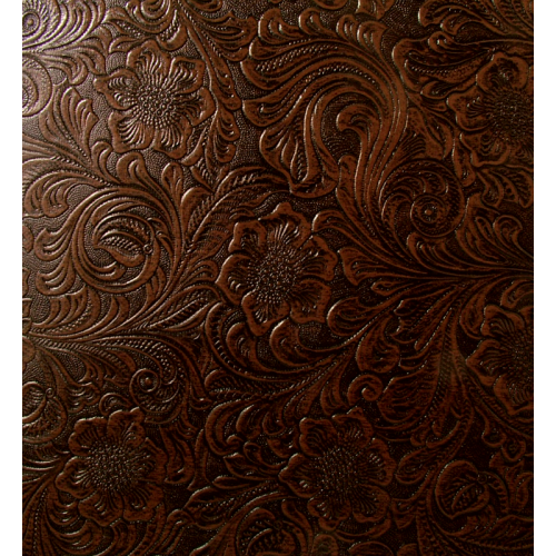 """Tolex - Brown, Country Western floral pattern, 54"""" Wide image 1"""