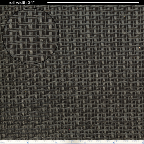 """Grill Cloth - Marshall, Black Somweave, 32"""" Wide image 1"""
