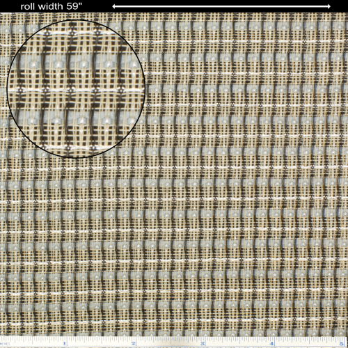 "Grill Cloth - Blue / White / Silver, 59"" Wide image 1"