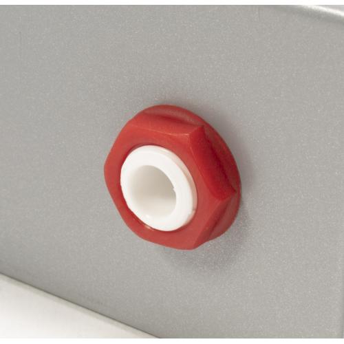 Nut - Cliff, Hex, Red, used on Loudspeaker Output Jacks image 4