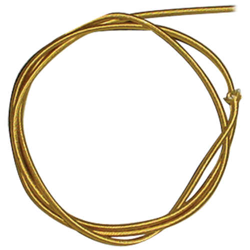 Wire - 18 Gauge Braided Power Cord, Parallel Gold, Per Foot image 2