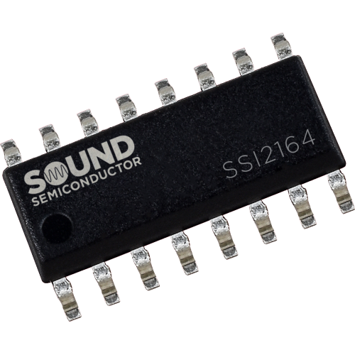 Integrated Circuit - SSI2164, Quad VCA, Sound Semiconductor image 1