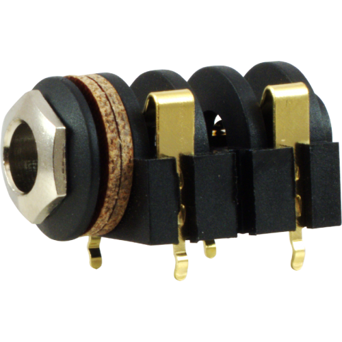 "Jack - Rean , 1/4"", Mono, 2-Pole Horizontal, Switched, PC, Gold Plated Contacts  image 1"
