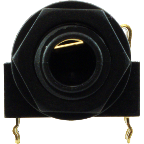 """Jack - Rean, 1/4"""", Stereo, 3-Pole Horizontal, Switched, Plastic Nut, PC image 2"""