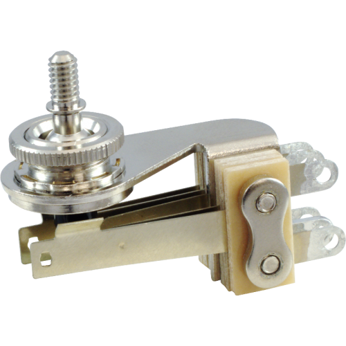 Switch - Switchcraft, Pickup Selector Toggle, 3 Pos, Nickel Finish, Right Angle image 1