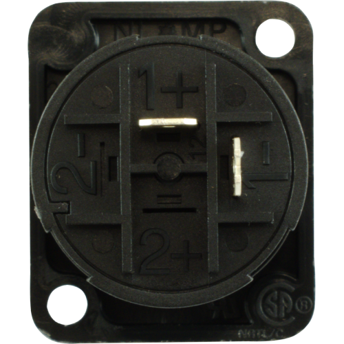 Jack - speakON, 2 Pole, D-Size Flange, Panel Mount  image 3