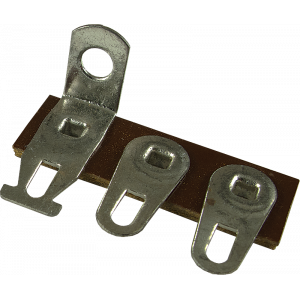 Terminal Strip - 3 Lug, 3rd Lug Common, Horizontal, package of 5