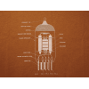 T-Shirt - Rust with 12AX7 Tube Diagram image 1