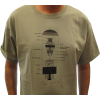 T-Shirt - Stonewash Green with 6L6 Diagram image 2
