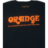 T-Shirt - Black with Retro Orange Amps Logo image 1