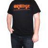 T-Shirt - Black with Retro Orange Amps Logo image 2