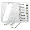 Bridge - Gotoh, Modern, for Telecaster, Artistic Engraved Chrome image 1