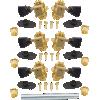 Tuners - Gotoh, SD510, gold, keystone knob, 3 per side image 3