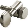 Machine Head - Kluson, 3+3, Locking, Large Metal Button, Nickel image 2