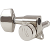 Machine Head - Kluson, 3+3, Locking, Large Metal Button, Nickel image 1