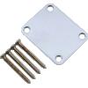 Neck Plate - Fender®, 4 Bolt, chrome image 2