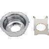 Jack Plate - for Telecaster, Chrome image 1