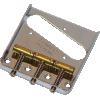 Bridge - Fender®, 3-Saddle, for Vintage Telecaster, Chrome image 1