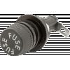 Fuse Holder - 3AG-Type, Low Profile, Knob, Right Angle Spade Lug image 1