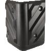 Corner - Black Plastic, 4-Hole, Heavy Duty, Chevron image 3
