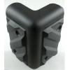 Corner - Black Plastic, 4-Hole, Heavy Duty, Chevron image 2