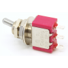 Switch - Carling, Mini Toggle, SPDT, 2 Position, Solder Lugs, Short Bat image 2