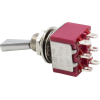 Switch - Carling, Mini Toggle, DPDT, 2 Position, Solder Lugs, Flatted image 2