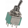 Switch - GØRVA, Mini Toggle, DPDT, 3 Position, Solder Lugs, Medium Bat image 2