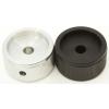 "Knob - Aluminum, Set Screw, Notched Tip, 1.25"" Diameter image 2"