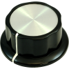 Knob - Black, White Line, Silver Top, Set Screw, Boss Style image 14