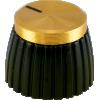 Knob - Marshall, Brown, Gold Cap, Push-On, Single image 1
