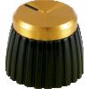 Knob - Marshall, Black, Gold Top, Push-On, D Shaft image 2