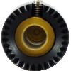 "Knob - Loknob, Large Series, 3/4"" Outer Diameter, Black / Gold image 3"