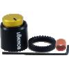 "Knob - Loknob, Large Series, 3/4"" Outer Diameter, Black / Gold image 1"