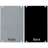 Panel - Eurorack Blanks, Reversible Black / Aluminum, 1.6mm image 12