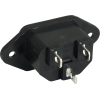Receptacle - IEC C14, for power cord, 3 prong image 2